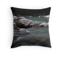 Rocks, Haast River Throw Pillow