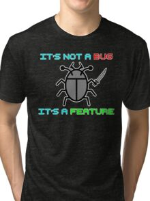 It's not a bug. it's a feature! Tri-blend T-Shirt