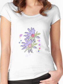 Purple Art 2  Women's Fitted Scoop T-Shirt