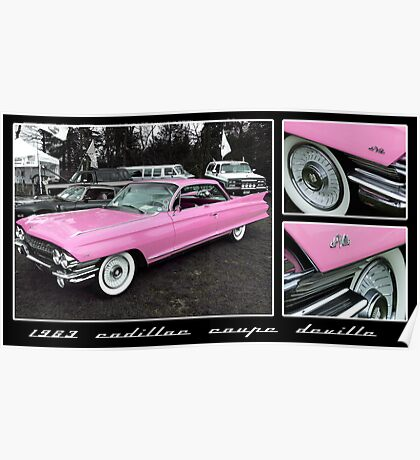 1963 Cadillac Coupe DeVille Poster