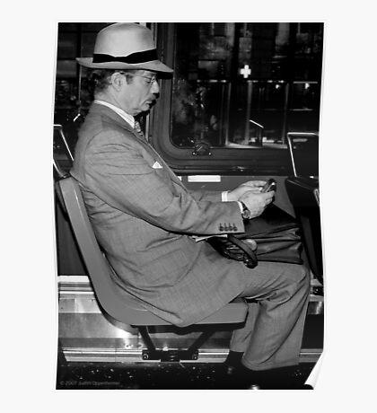 Man on Bus Poster