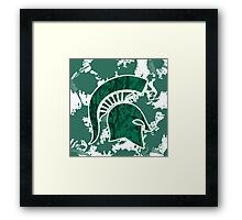 Michigan State Framed Print