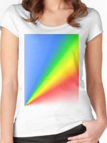 Ray of light Women's Fitted Scoop T-Shirt