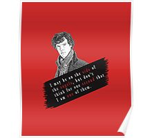 Sherlock Quote Angels Poster