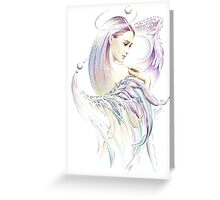 """THE VIRGO"" - Playing with Wings  - Protective Angel for Zodiac Sign Greeting Card"