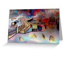 Mining town ( from my original acrylic painting digitally enhanced) Greeting Card