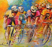 Tour De France 03 In Acrylics by Goodaboom