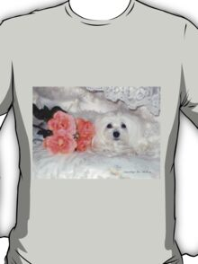 Snowdrop the Maltese & Roses T-Shirt