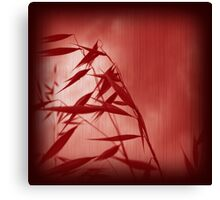 Grass red1 Canvas Print
