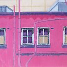 Pink Building by Joan Wild