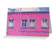 Pink Building Greeting Card
