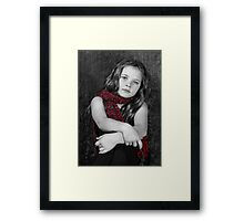 The Red Scarf Framed Print