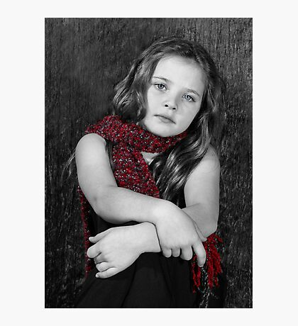 The Red Scarf Photographic Print