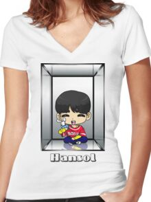Hansol Anniversary Women's Fitted V-Neck T-Shirt