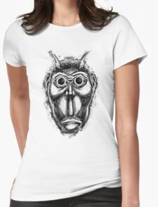 Cockroach humanoid (black ink) Womens Fitted T-Shirt