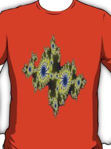 Blu and Gold Fractal T-Shirt