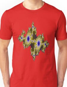 Blu and Gold Fractal Unisex T-Shirt