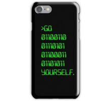 Go ( Binary Curse Word ) Yourself iPhone Case/Skin
