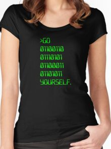 Go ( Binary Curse Word ) Yourself Women's Fitted Scoop T-Shirt