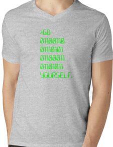 Go ( Binary Curse Word ) Yourself Mens V-Neck T-Shirt