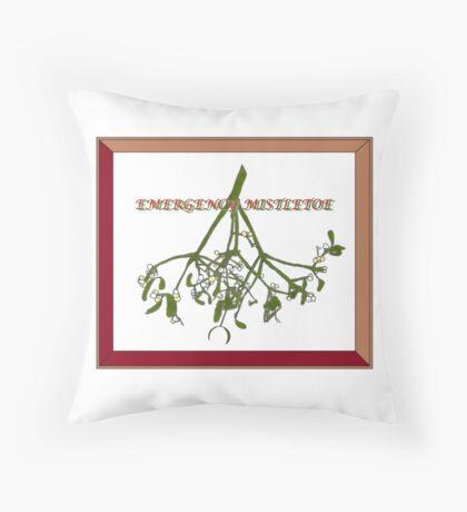 Emergency Mistletoe Framed Throw Pillow