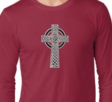 High Cross on red Long Sleeve T-Shirt