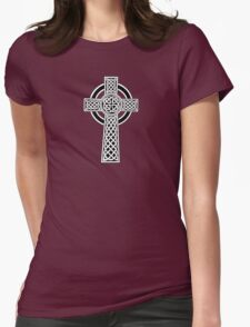 High Cross on red Womens Fitted T-Shirt
