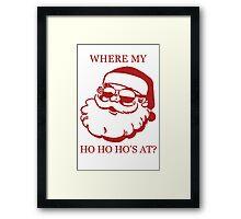 Pimp Santa Framed Print