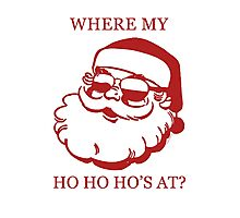 Pimp Santa Photographic Print