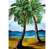 Lazy Twin Palms..........Two Person Party............ Photographic Print