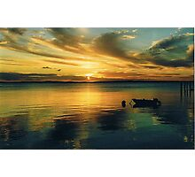 Sunset, Fraser Island Photographic Print