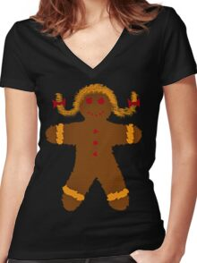 COOKIE GIRL Women's Fitted V-Neck T-Shirt