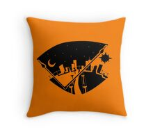TIME Negative Space Landscape Throw Pillow