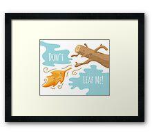 Fall Leaf Illustration / Sad Love Story Framed Print