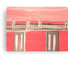 Pink Bridge Canvas Print