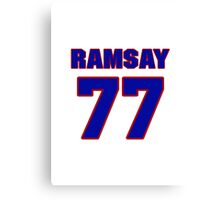 Basketball player Jack Ramsay jersey 77 Canvas Print