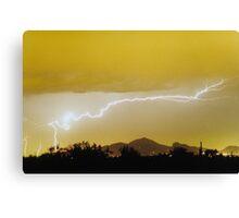 Lightning Over Camelback Mountain Canvas Print