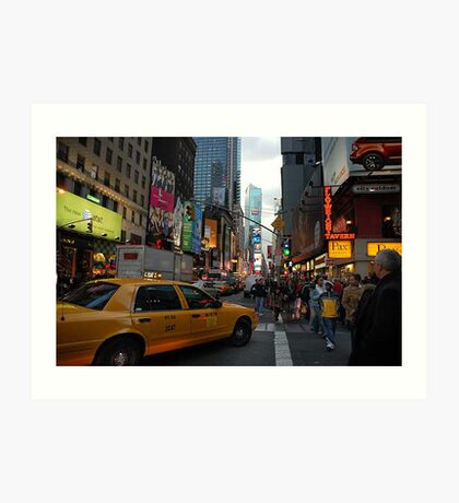 New York Taxi Cab Art Print