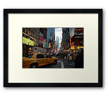 New York Taxi Cab Framed Print