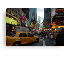 New York Taxi Cab Canvas Print
