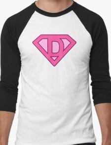 D letter Men's Baseball ¾ T-Shirt