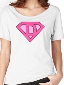 D letter Women's Relaxed Fit T-Shirt