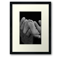 SOON YOU'LL HEAR THE PATTER Framed Print