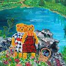 Teddy Bears at a Picnic by Nira Dabush