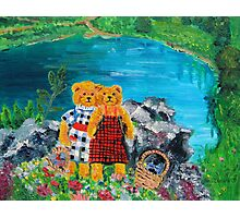 Teddy Bears at a Picnic Photographic Print