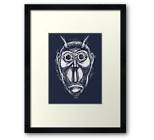 Cockroach humanoid (White ink) Framed Print