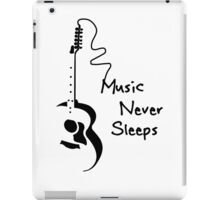Music Never Sleeps iPad Case/Skin