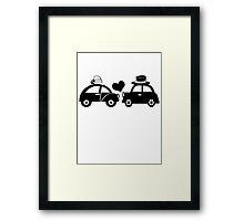 Cute Car Couple (lovers) Framed Print