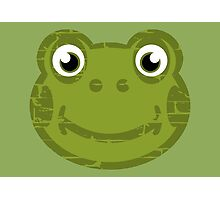 Cute Frog Face Photographic Print
