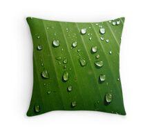 BANANA LEAF RAINCOAT Throw Pillow